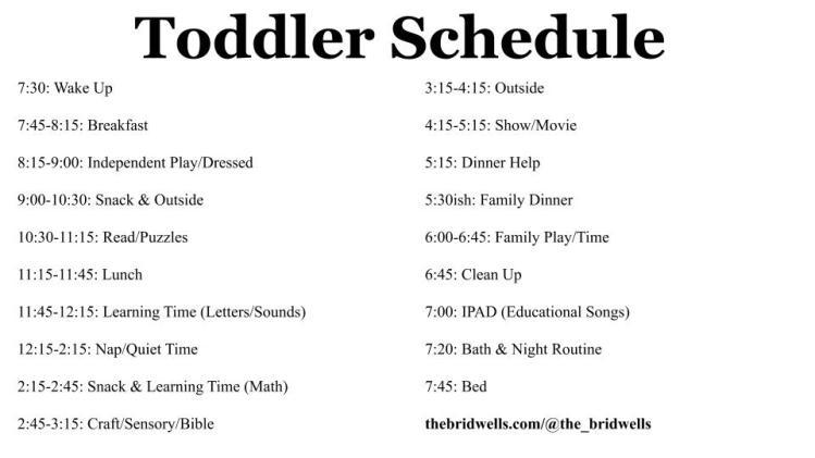 Toddler Schedule (1)